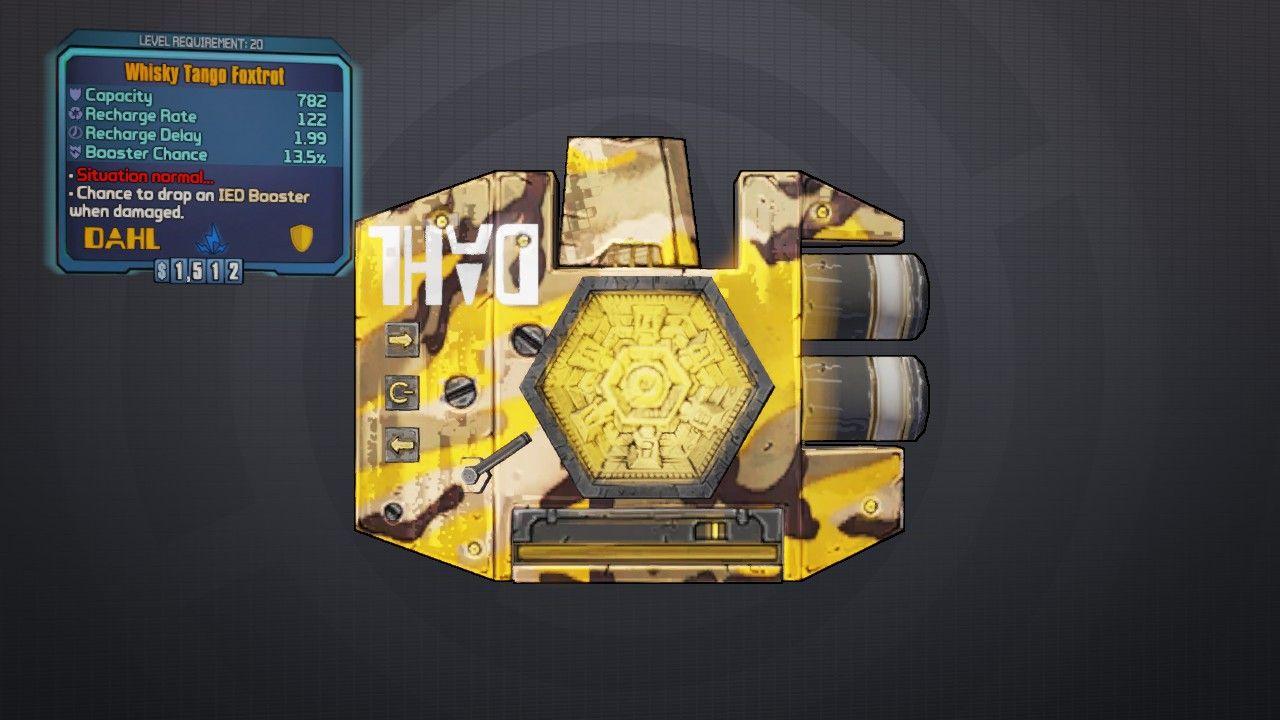 Foxtrot- Legendary shield | Borderlands 2 | Borderlands 2