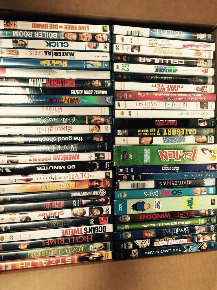 Lot of 100 Used ASSORTED DVD Movies - 100 Bulk DVDs - Used
