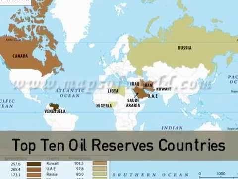 Oil Reserves Countries in World - Top Ten #Maps Pinterest Top ten - fresh world map in russian