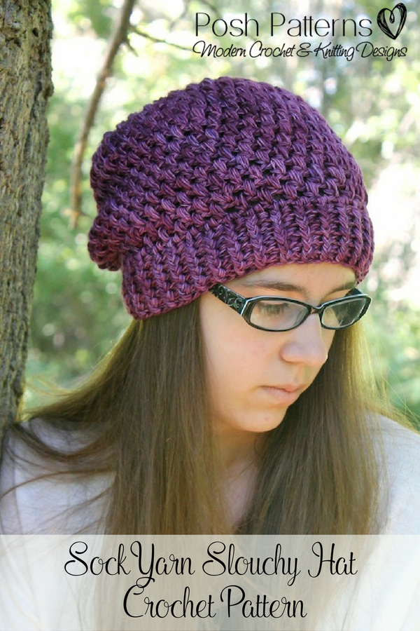 Crochet PATTERNS - Puff Stitch Slouchy Hat Crochet Pattern | Crochet ...