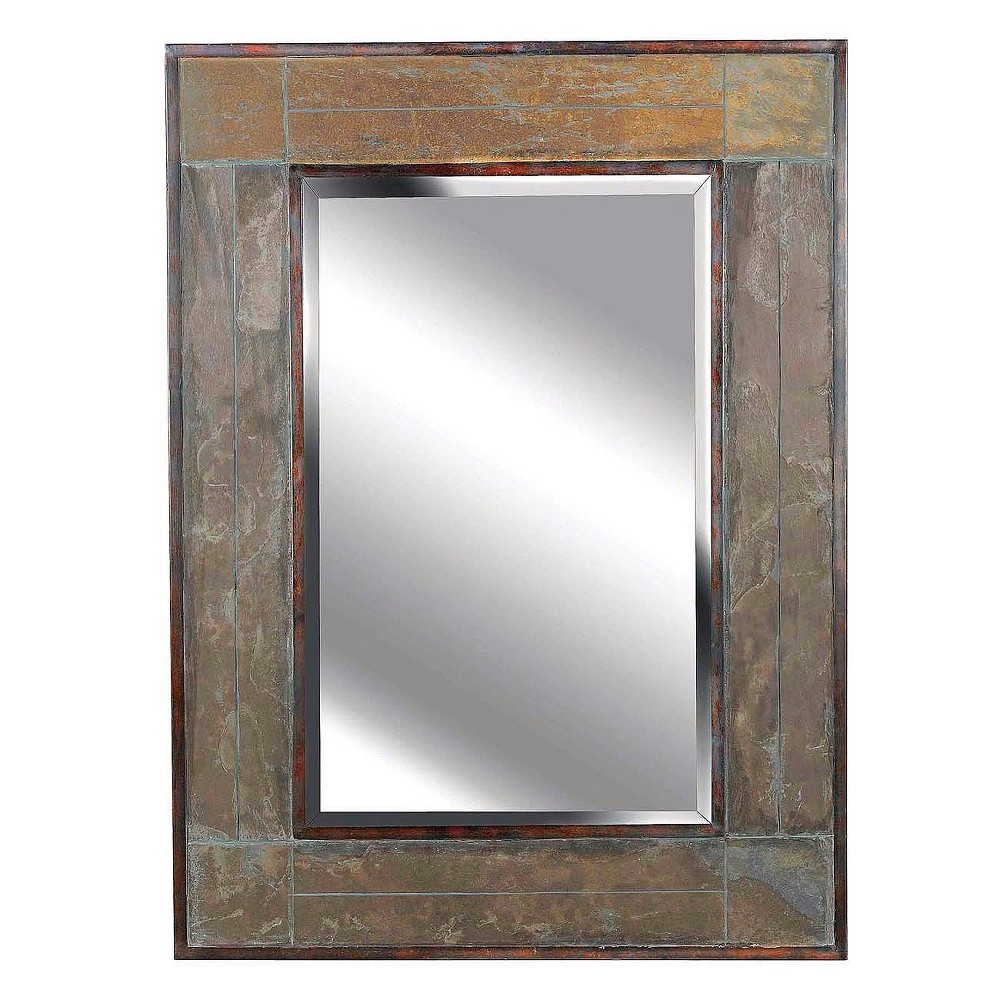 decorative bathroom mirror rectangle. Rectangle Decorative Wall Mirror Slate - Kenroy Home Bathroom