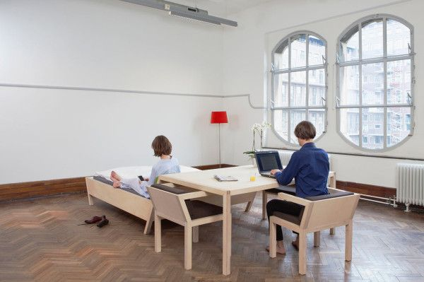 Small Space Solution: BednTable by Erik Griffioen in home furnishings  Category