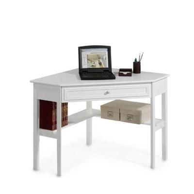 Home Decorators Collection Oxford White Desk 2877810410 The Home Depot Corner Writing Desk Writing Desk Arranging Bedroom Furniture