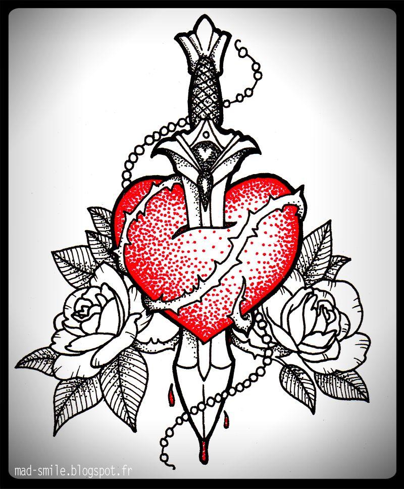 tattoo - heart and daggermad-smile on deviantart | tattoos