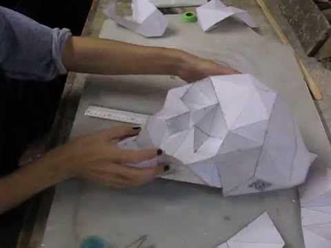 Diy Folding Paper Skull Skullsforchange Skull Template Diy Skulls Skull Crafts