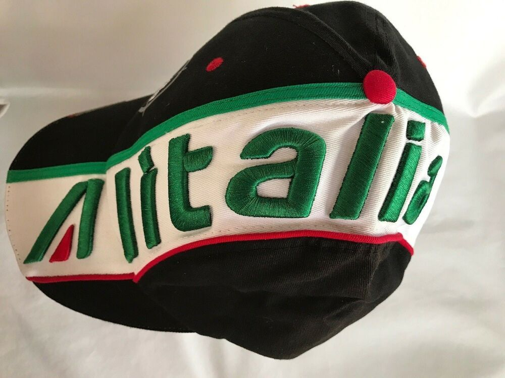 d1c3ddff2dc6f6 Aprilia Alitalia Motorcycle Racing Hat Logo Brim Strapback Black Green Red  White #aprilia #BaseballCap