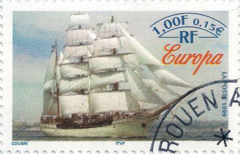 Briefmarke-Europa-Westeuropa-Frankreich-0.15-1999-Europa