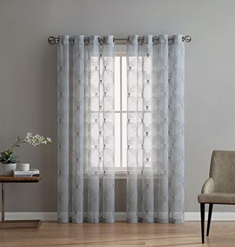 fae24034b Melissa - Premium Quality Textured Semi-Sheer Embroidered Curtain By ...