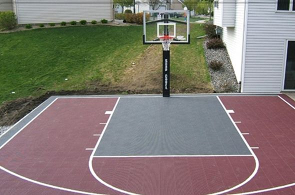 Outdoor Game Court 1 Basketball Goals Bergfed Recreation Basketball Court Backyard Outdoor Basketball Court Backyard Court