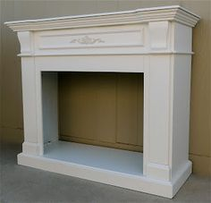 Shabby chic fireplace and Fireplace mantles