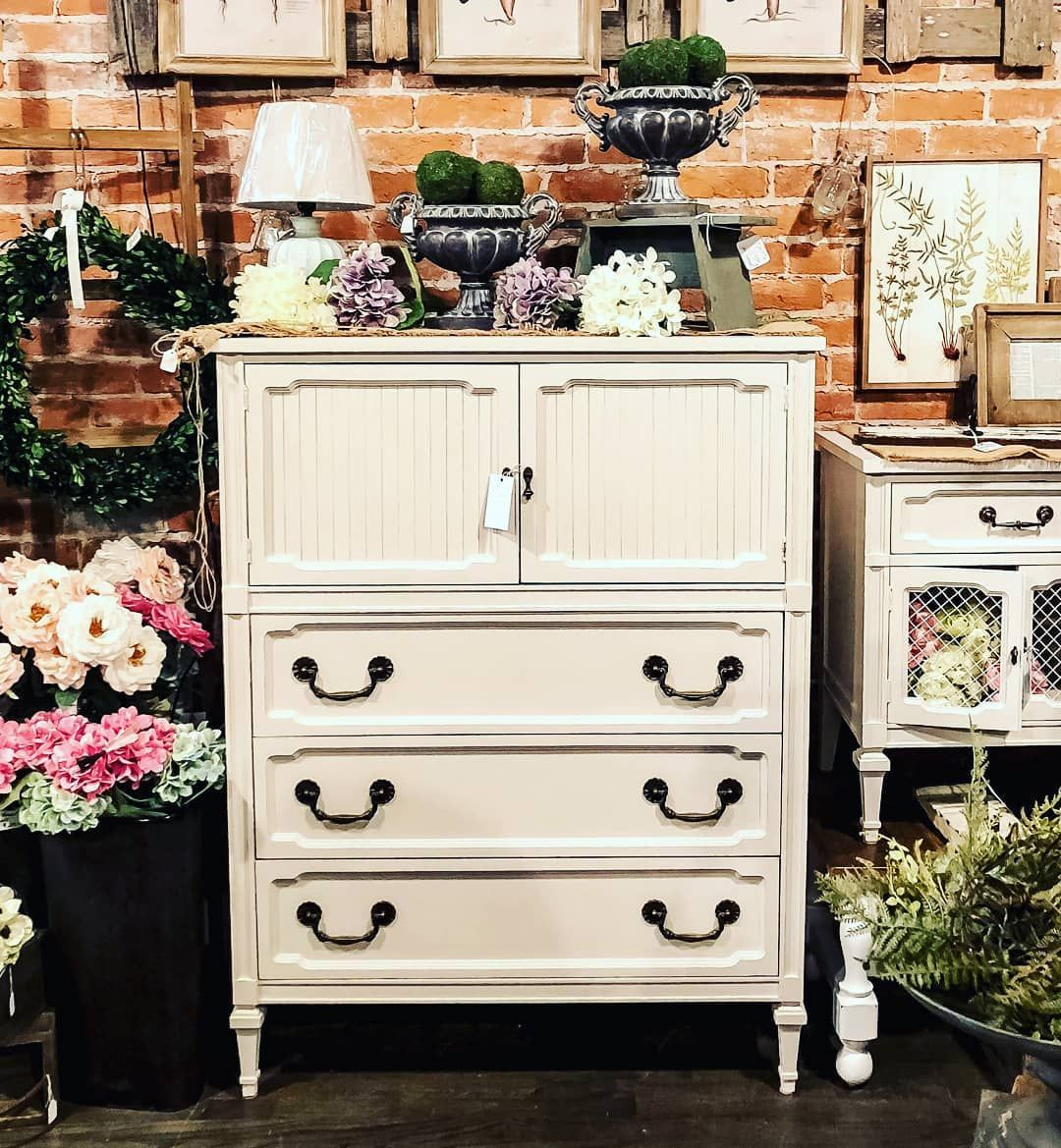 Chest of Drawers with 2 Doors painted with Amy Howard One