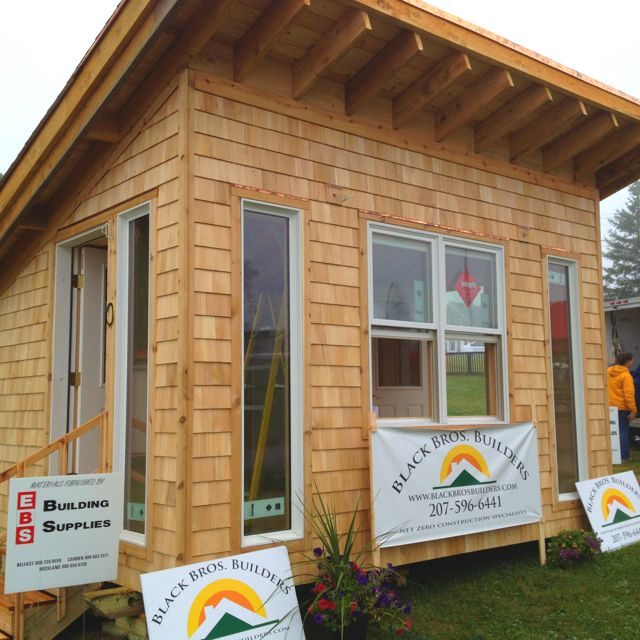 The Net-Zero Bungalow. Double stud wall construction, cellulose insulation, shed style roof perfect for solar. Sustainable living in a small footprint.