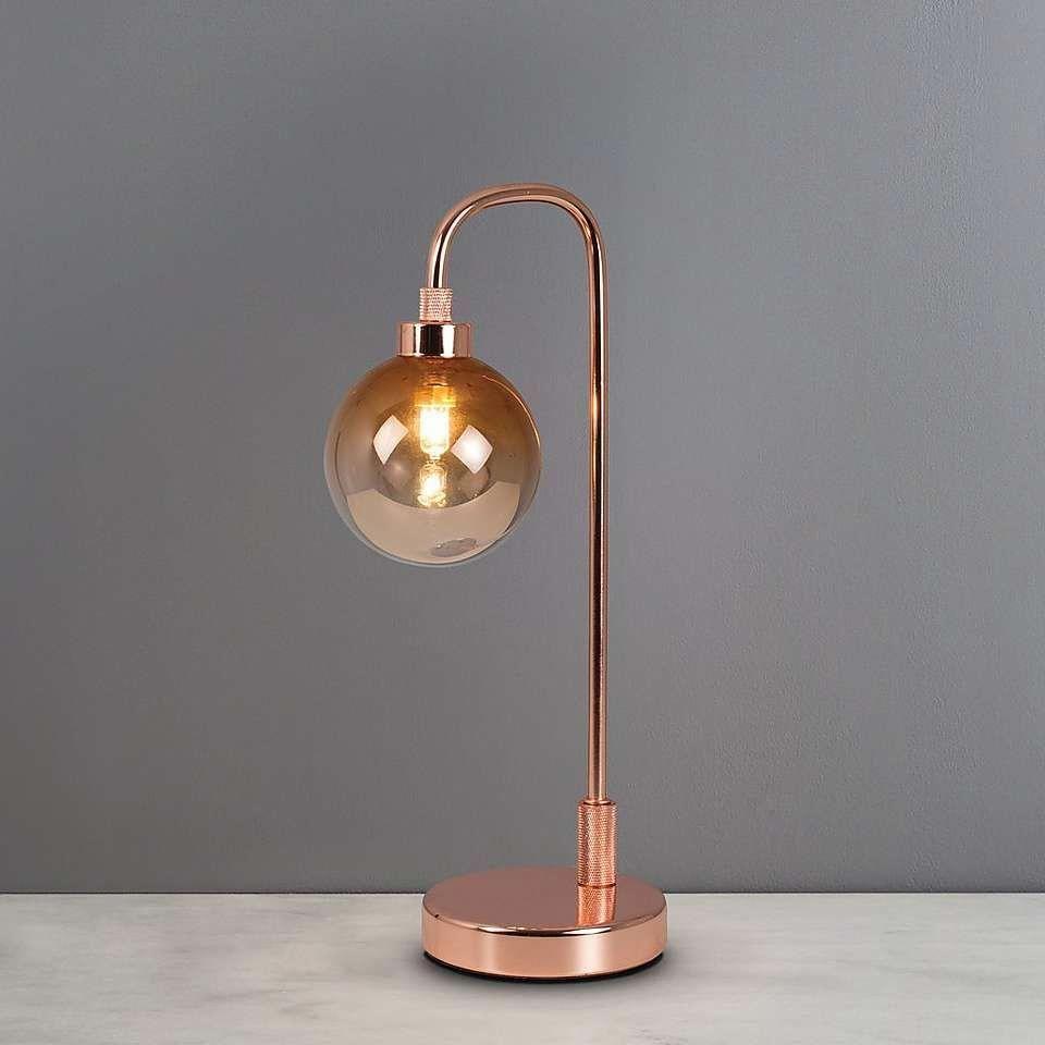 Tanner Copper Table Lamp Dunelm Modernhomedecorretro Copper Table Lamp Table Lamp Copper Lamps