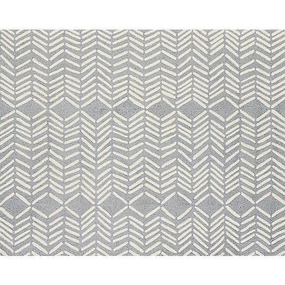 hash looped rug | CB2