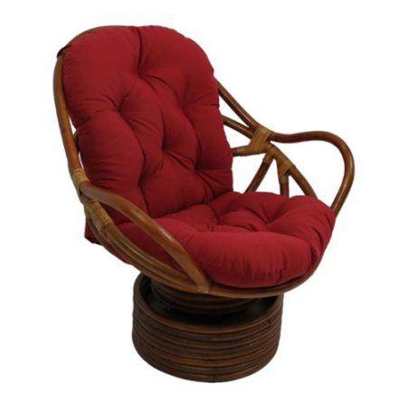 Patio Garden Swivel Rocker Chair Papasan Chair Rocker Chairs