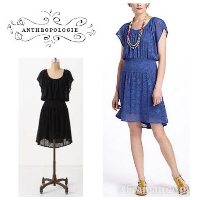 04760679cc6d2 Anthropologie Leifnotes lace dress - blk Sz xs | Leifnotes and ...