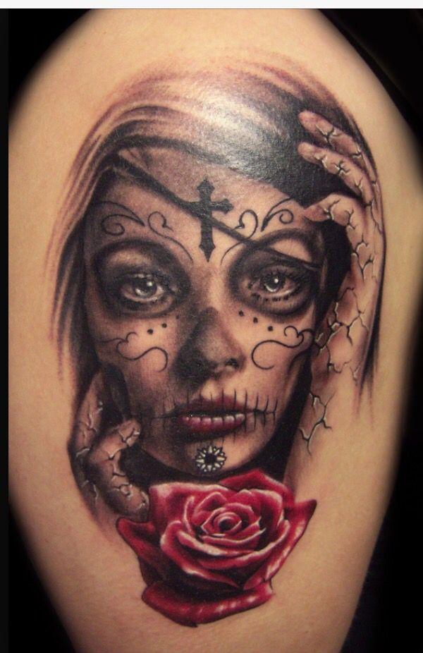 tatouage santa muerte la catrina pinterest. Black Bedroom Furniture Sets. Home Design Ideas