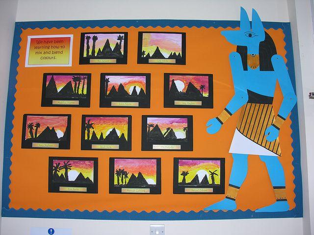 Egyptian Classroom Decor ~ Egypt bulletin board tweets linda hartley