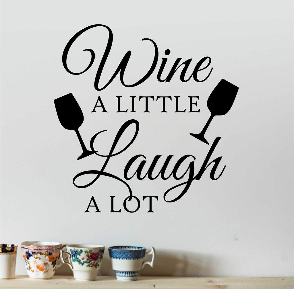 laugh a lot vinyl wall lettering wall quote vinyl decals vinyl decals for kitchen and on kitchen decor quotes wall decals id=23117