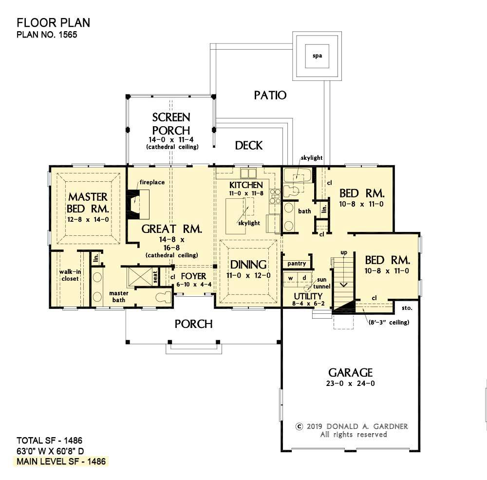 House Plan The Wilfred By Donald A Gardner Architects In 2020 Floor Plans House Plans How To Plan