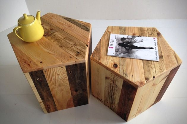 Love The Shape Of These Tables. Create A Rustic Home With U0027ProduktWerftu0027  Pallet Furniture