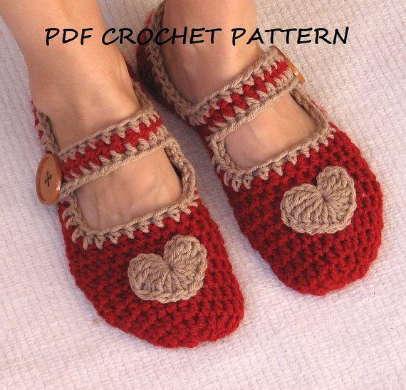 Mary Jane Slippers Crochet Pattern PDF,Easy, Great for Beginners ...