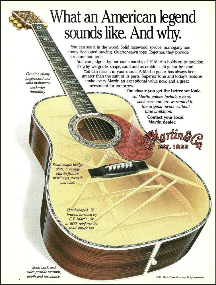 C F Martin Ad X Ray See X Braces Inside Acoustic Guitar 1991 Advertisement Martin Martin Guitar Acoustic Guitar Martin Acoustic Guitar