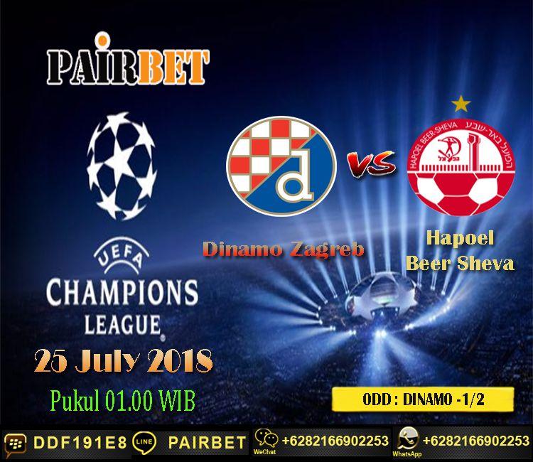 Prediksi Skor Dinamo Zagreb Vs Hapoel Beer Sheva
