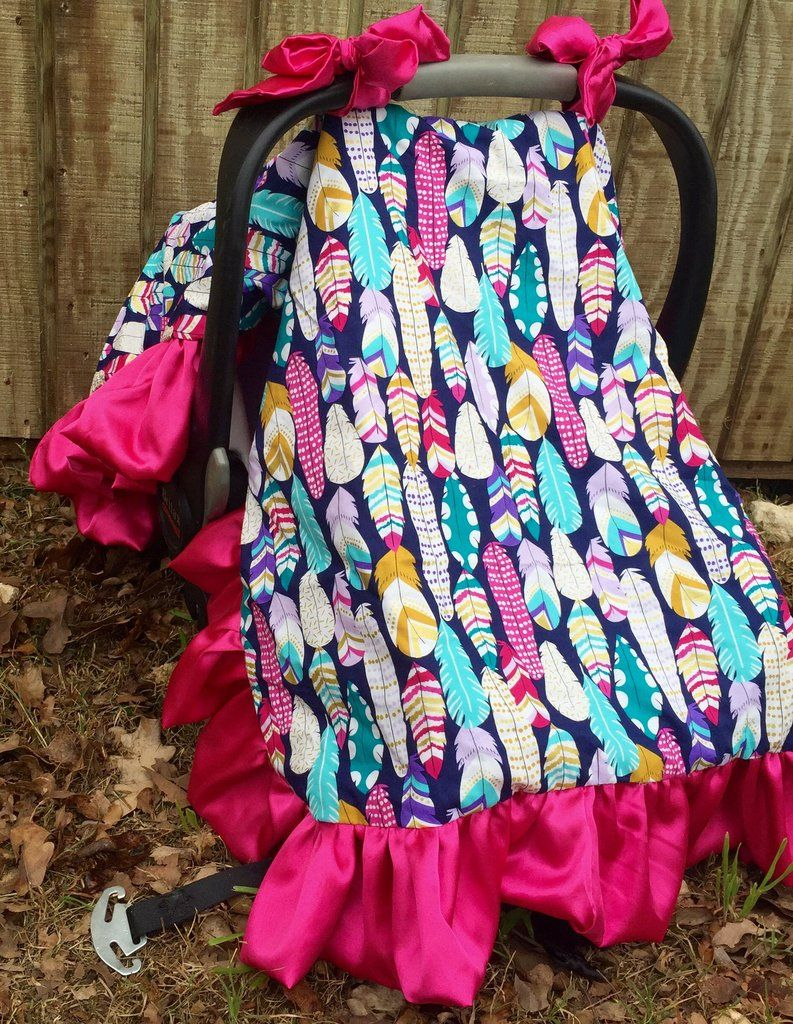 Feather carseat canopy