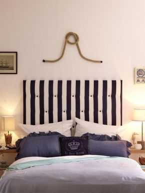 Diy Idee So Einfach Basteln Sie Ein Betthaupt Bett Ideen Stilvoll Wohnen Bett