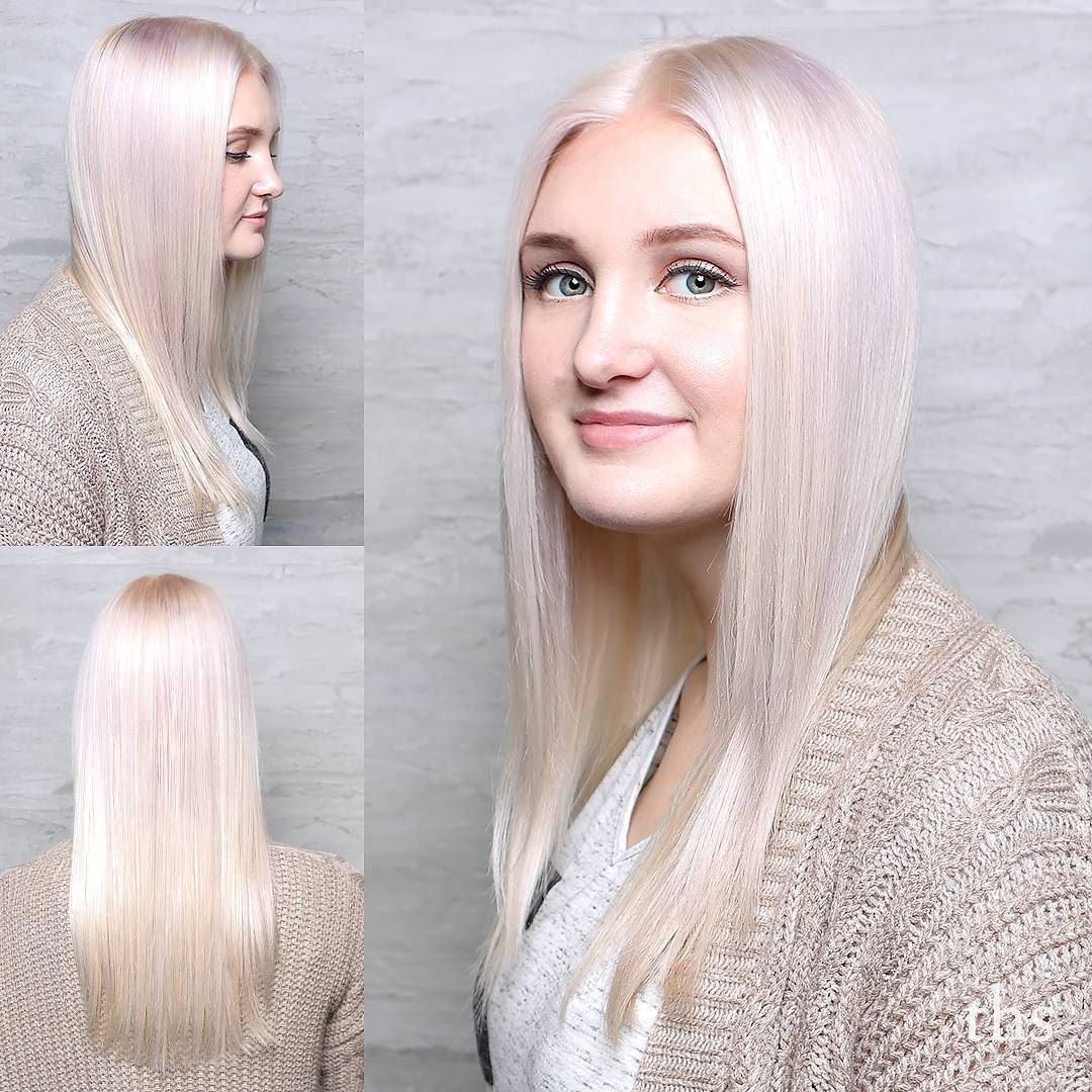 Going even a little lighter tonight with iridescent #platinumhair with that terrific touch of platinum. Master level work Jessica!