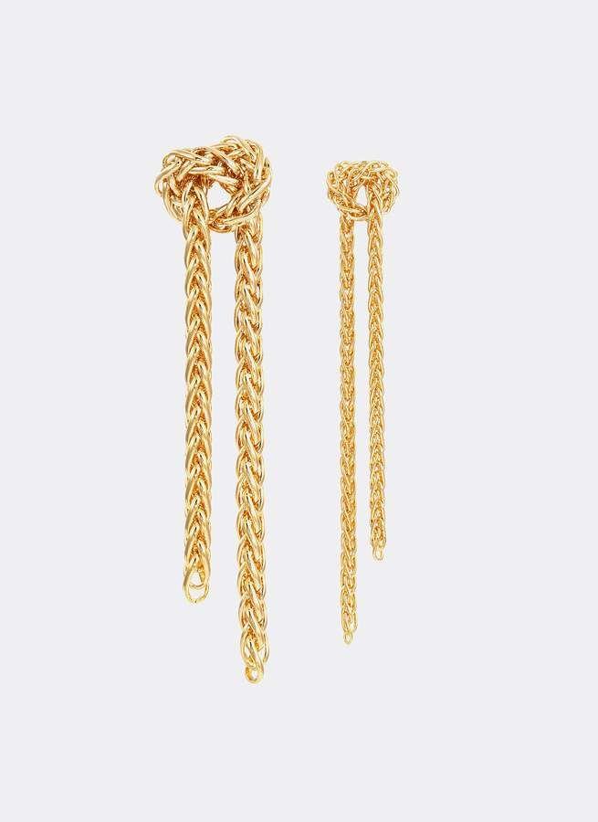 Bittersweet 'Rope Knot' mismatched drop earrings #ropeknots