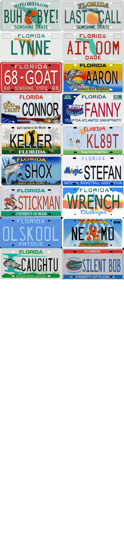 Florida Personalized License Plates >> Florida License Plate Moped Sized Custom Plate Any Tag