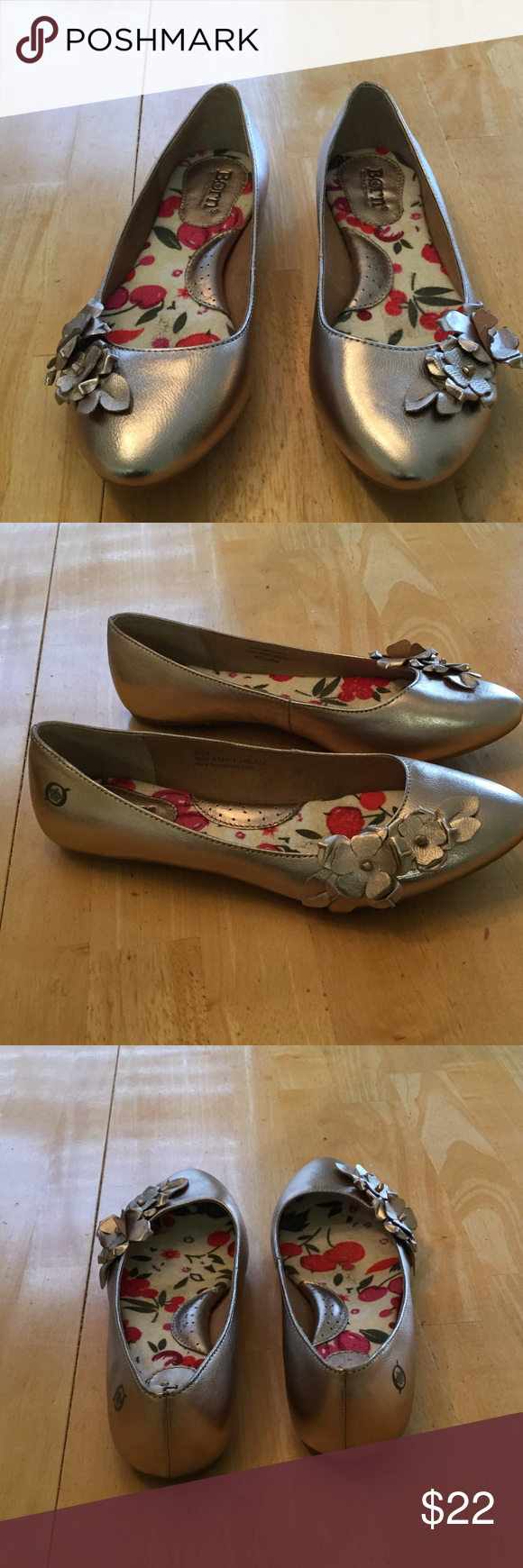 Born shoes Gold flats good condition Shoes Flats & Loafers