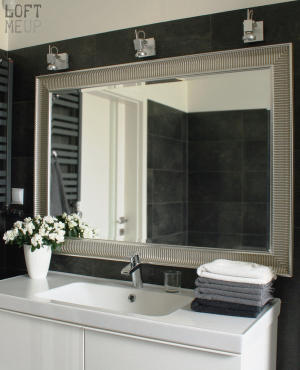 Ikea Songe Złote Lustro łazienka Dekoracja łazienki