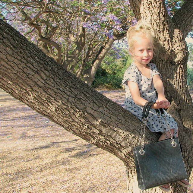 """My #beautiful niece Einav carrying """"Ambition"""". A #bag #inspired by Audrey Hepburn. ▪▪▪Do you want to see more? Do you want to know more about the bag and the #inspiration behind it?▪▪▪ Contact me at info@zivfetter.com and a catalog with pre launch discounts will be sent to you! Copyright ©2016 Inspiration By Ziv Fetter. All rights reserved. ***** handmade leather bags ****"""