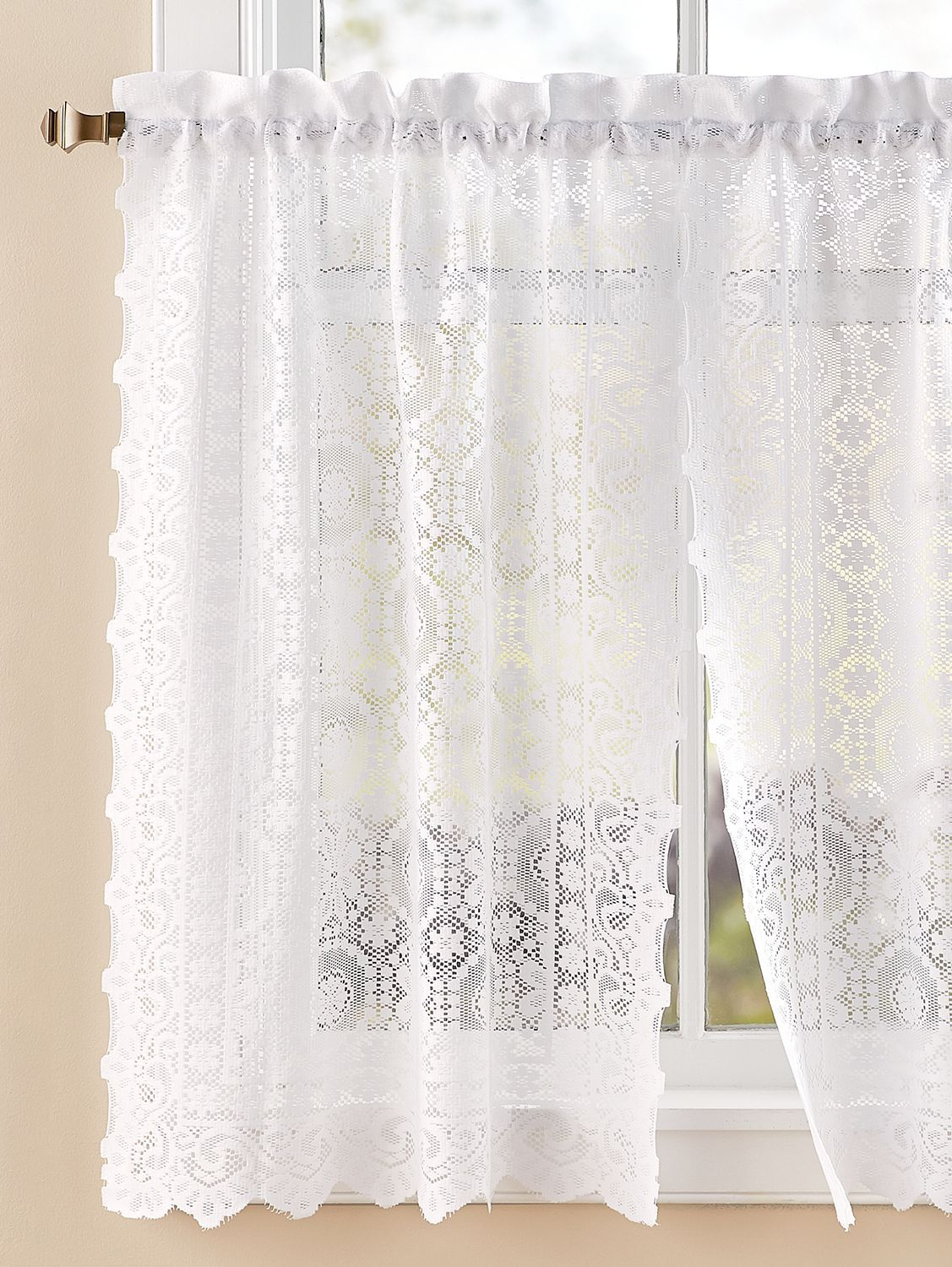White Lace Curtains Curtain Panels