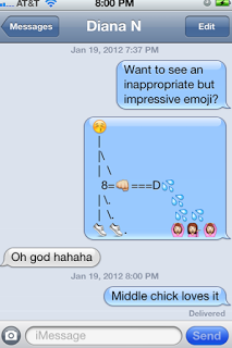 Naughty emoji messages