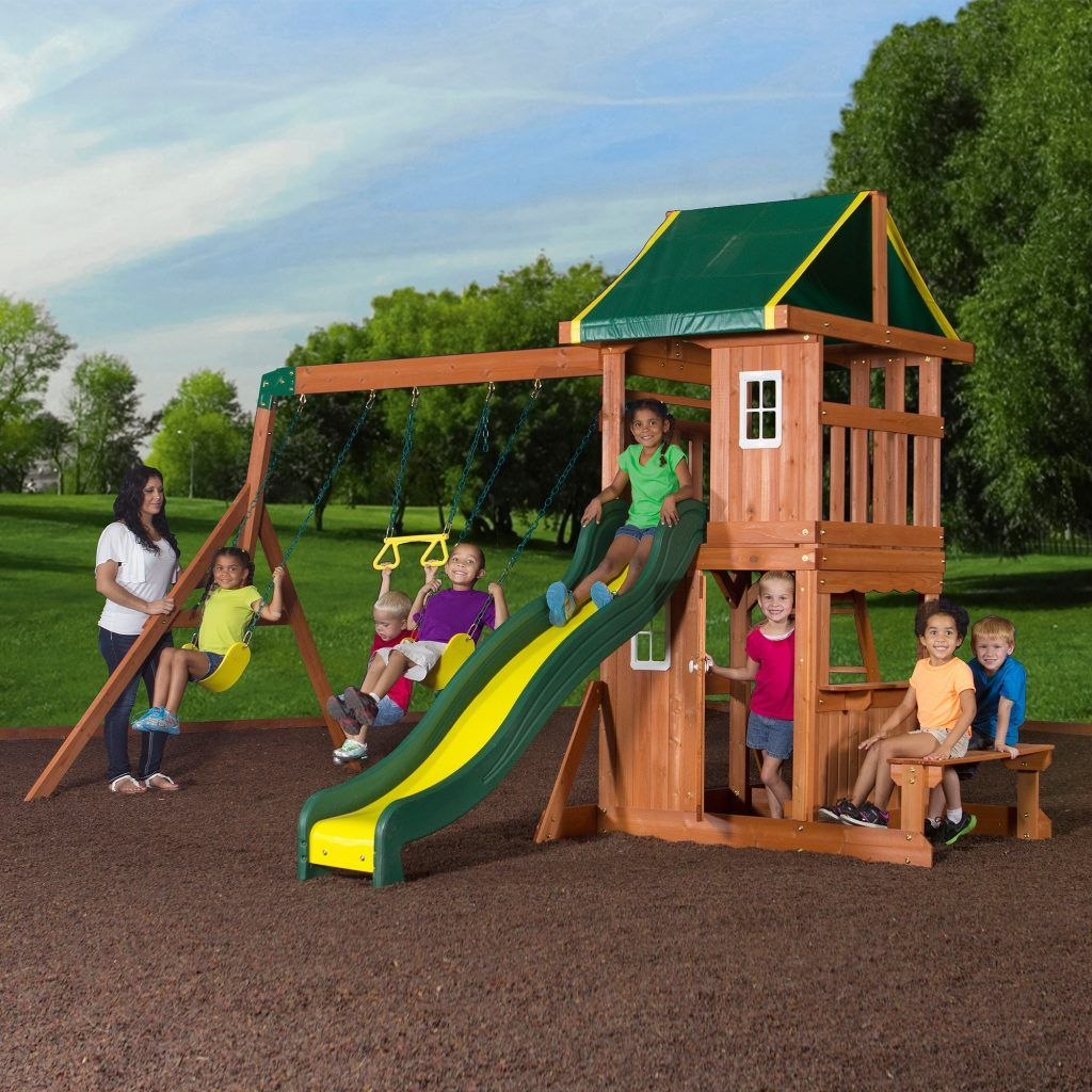 backyard playground sets backyard discovery oakmont cedar wooden