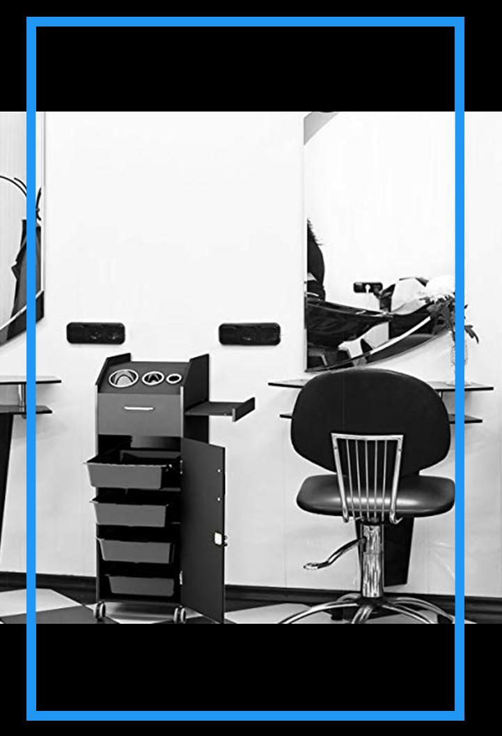 Giantex Salon Beauty Cart Trolley Storage Organizer with 4