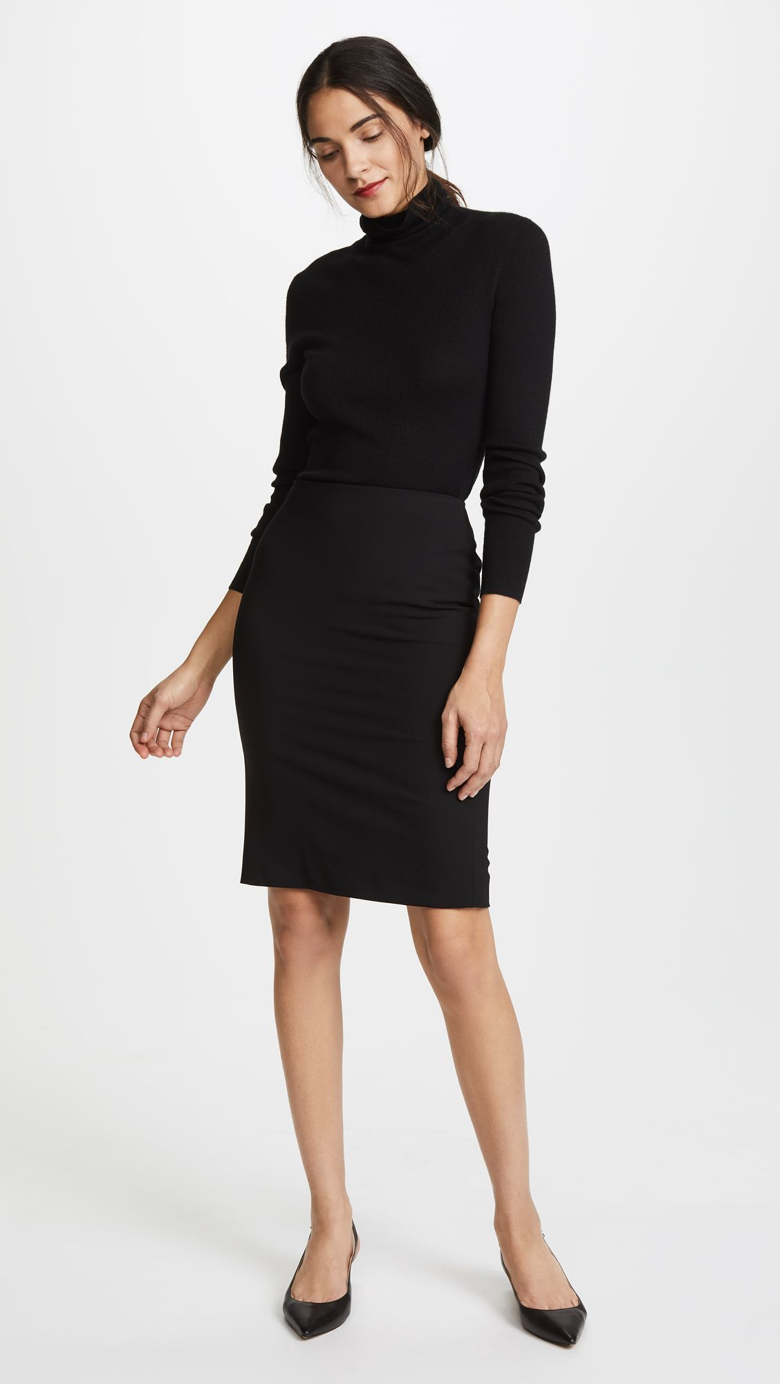Theory Edition Pencil Skirt Shopbop Black Dress Outfit Casual Simple Black Dress Black Dress Accessories [ 2000 x 1128 Pixel ]