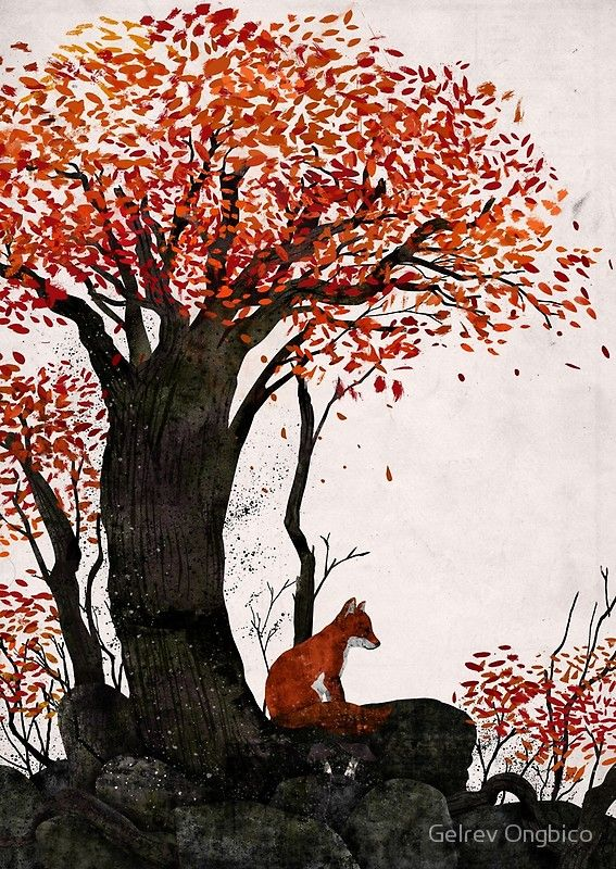 'The Forest Fox' Art Print by gelrevongbico