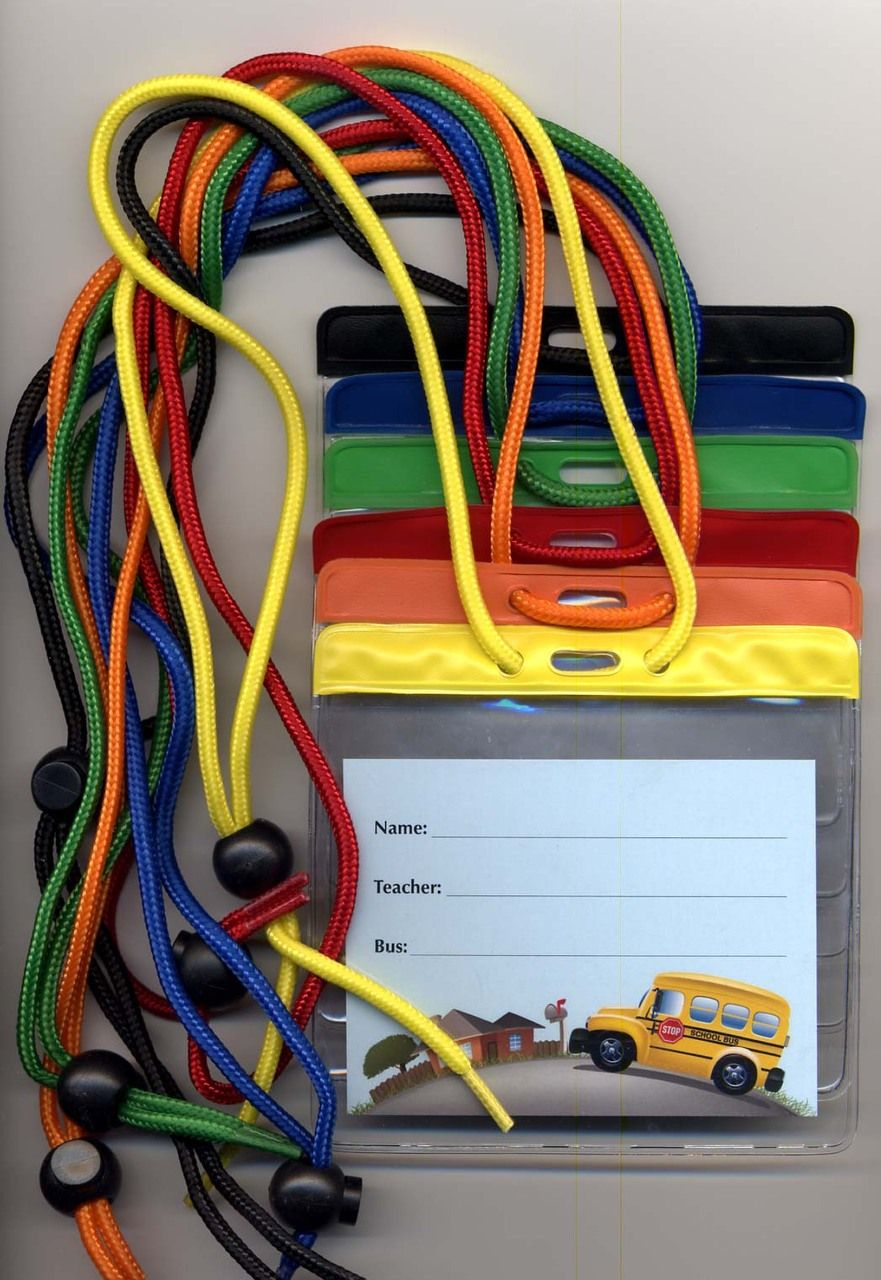 medium resolution of standard bus id tag with pouch and adjustable lanyard nationalschoolforms com
