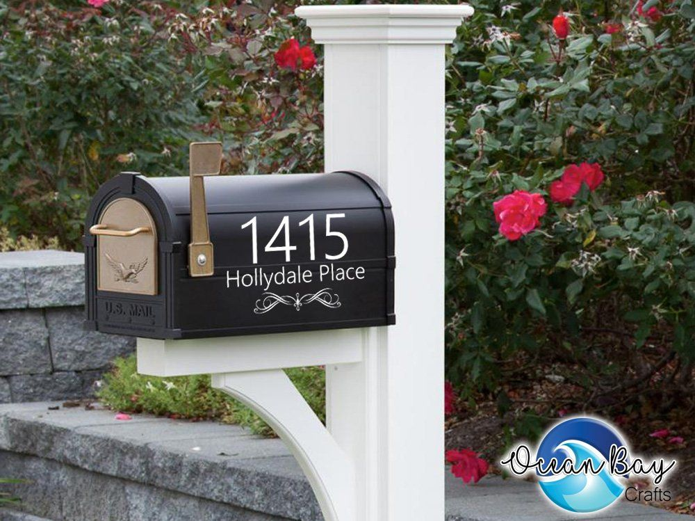 Pin By Tammy Wiard On Address Numbers Custom Mailboxes Mailbox Decals Mailbox Numbers