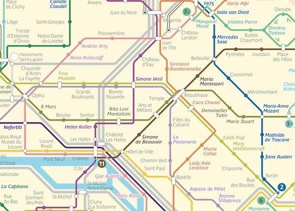 French Artist Reimagines Paris Metro Map Next Stop Susan Sontag - French metro map