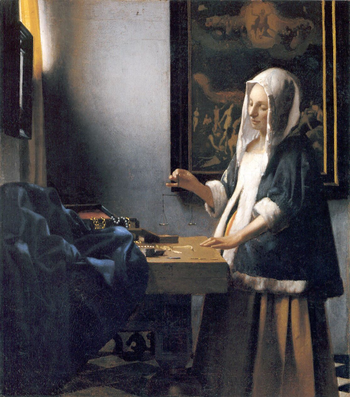 """""""Woman with a Balance"""" by Vermeer (c. 1664) National Gallery of Art, Washington"""