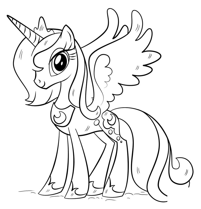 Kleurplaten Paarden My Little Pony.Rincess Luna Kleurplaat Kleurplaten Kleurboek En My