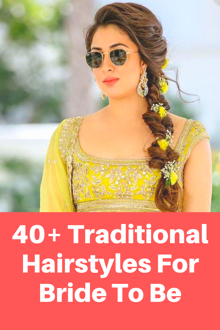 New Hairstyles For Indian Wedding Function Mehdi Haldi Sangeet Traditional Hairstyle Indian Wedding Hairstyles Bride Hairstyles
