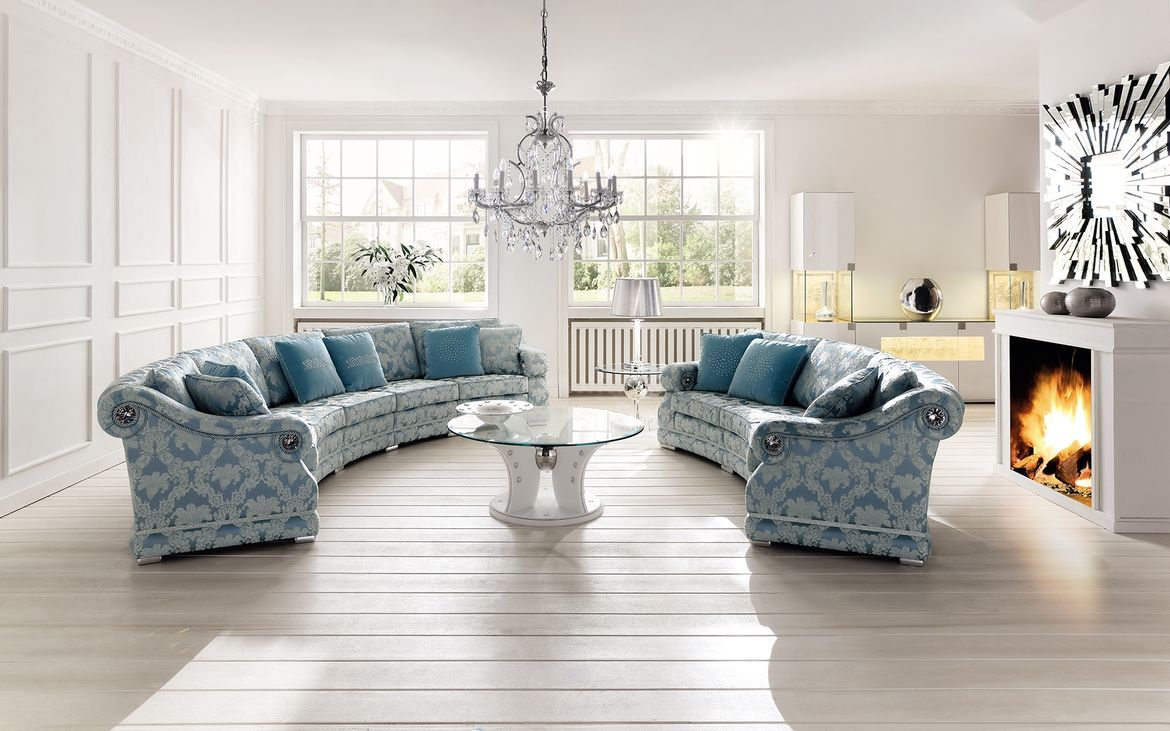 Round sofa Romana, tables Wing, cabinet and sideboard Montana - www ...