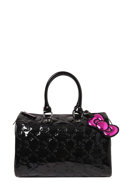 Loungefly - Hello Kitty Black Embossed City Bag  ac27a519668e6